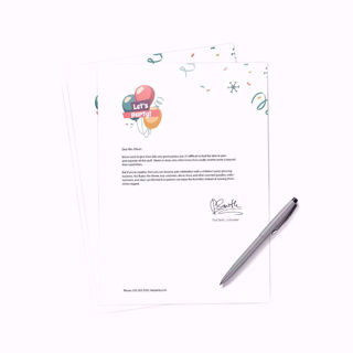 "8.5"" x 11"" professional wholesale letterhead with pen"
