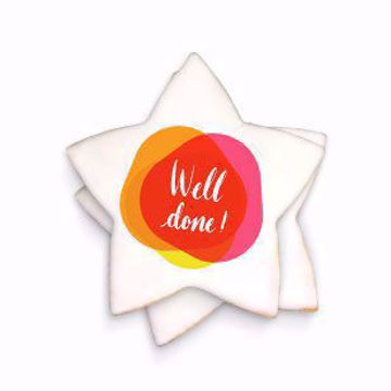3 inch wholesale custom message star shaped cookies