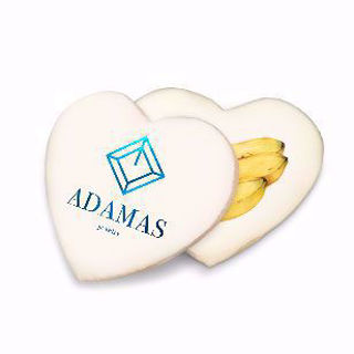 wholesale custom image 3.5 inch heart shaped cookies