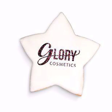 4 in custom logo wholesale star shaped cookies