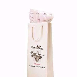 Wine bag with Gift wrap tissue cutom design