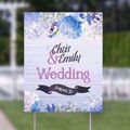 22x28 inch beautiful full color yard sign h-frame on lawn
