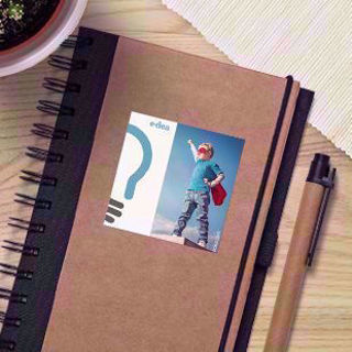 Beautiful 2.5in wholesale square stickers on notebooks