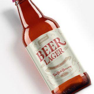 beer label brown bottle