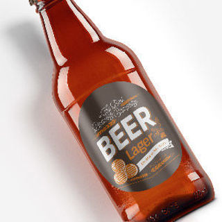 beer label brown bottle round